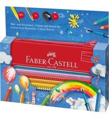 Faber-Castell - Gaveæske med GRIP Farveblyanter med Pensel (112450)