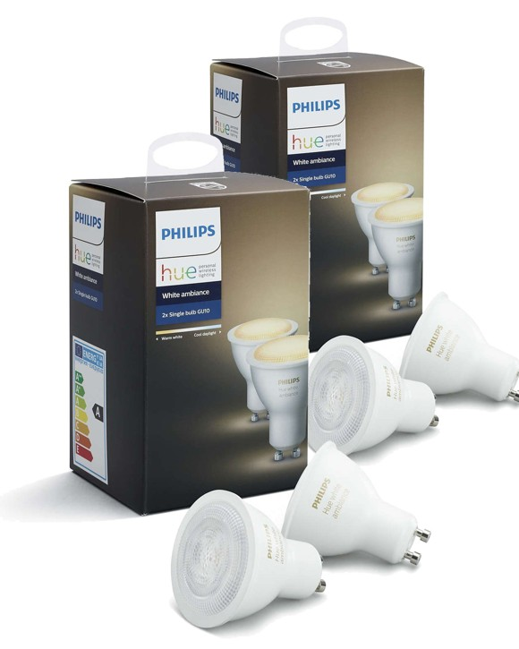 Philips Hue -  2xGU10 Dual Pack - White Ambiance - Bluetooth - Bundle