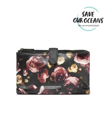 Gillian Jones - Makeup Purse in Black w. Rose Print