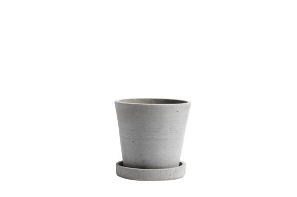 HAY - Flowerpot w/saucer Small - Grey