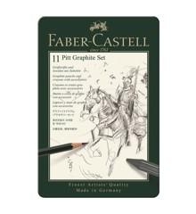 Faber-Castell - Pitt Graphite sæt i tin æske (11 stk)