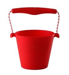 Scrunch Bucket - Blød spand til stranden - Rød