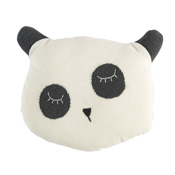 Sebra - Strikket Pude, Panda