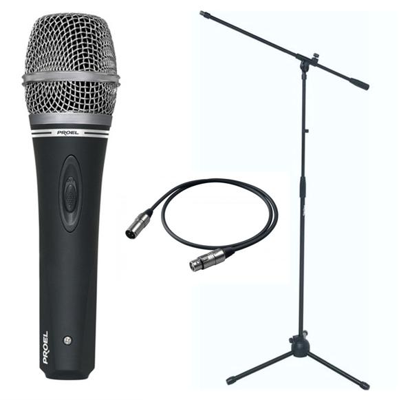 Proel - DM220 - Dynamic Vocal Microphone Bundle