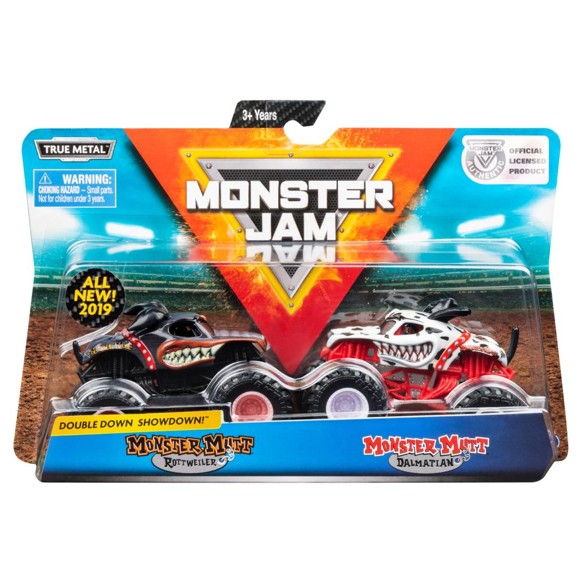 Monster Jam 1:64 2 Pack - Rottweiler & Dalmatian (20105523)