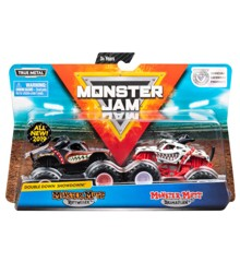 Monster Jam 1:64 2 Pakke - Rottweiler & Dalmatian