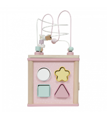 Little Dutch - Activity cube wooden, Pink (4427)