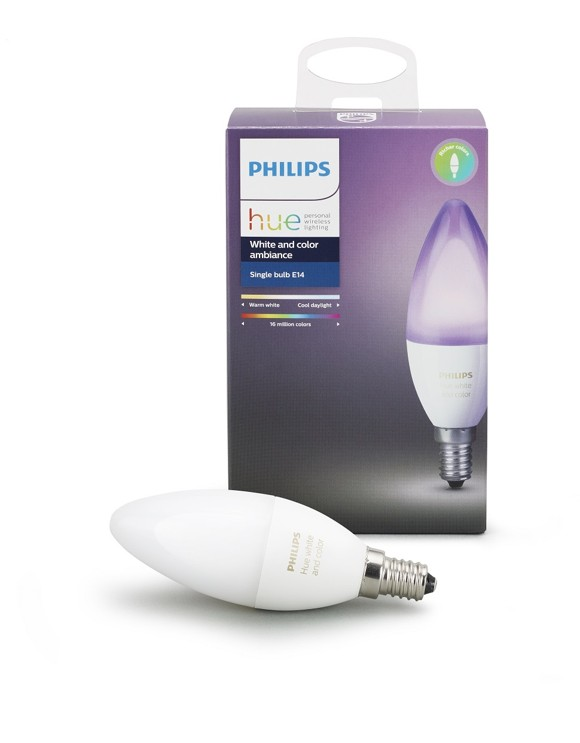 Philips Hue - Single Bulb E14 White & Color Ambiance - E