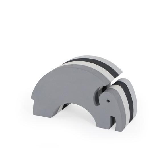 bObles - Medium Elephant - Multi Grey