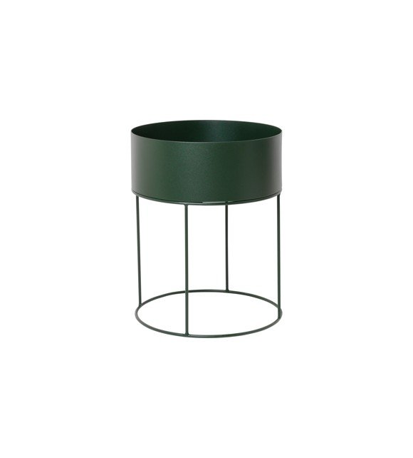 Ferm Living - Plant Box Round - Dark Green (3358)
