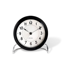 Arne Jacobsen - Station Table ​Clock ​ - Black/White (43672)