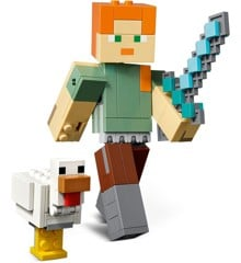 LEGO Minecraft - Minecraft stor Alex-figur med høne (21149)