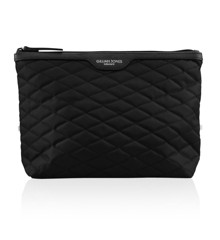 Gillian Jones - Cosmetic Bag Quiltet Nylon Black
