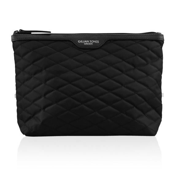 Gillian Jones - Cosmetic Bag Quiltet Nylon Black