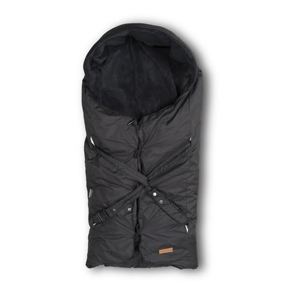 Babytrold - Kørepose Lux m. Fleece og Ulddyne - Sort