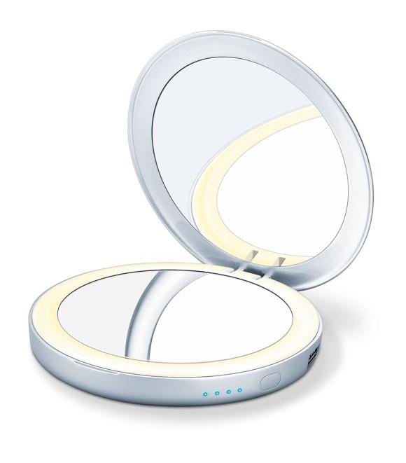 Beurer - BS39 Illuminated Cosmetics Mirror & Powerbank - 3 Years Warranty