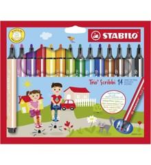 Stabilo - Trio Scribbi - Sæt med 14 tusser