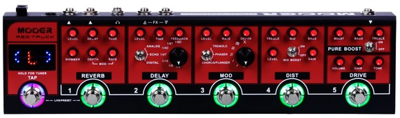 Mooer - Red Truck - Guitar Multi Effect Pedal