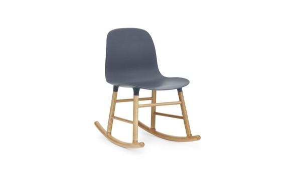 Normann Copenhagen - Form Rocking Chair - Blue/Oak (602731)