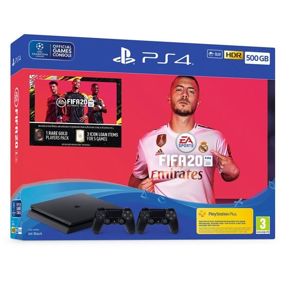 Playstation 4 500GB 2x Dualshock Controller (FIFA 20 Bundle)