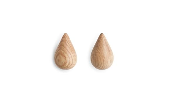 Normann Copenhagen - Dropit Hooks Set of 2 - Small - Nature (331540)