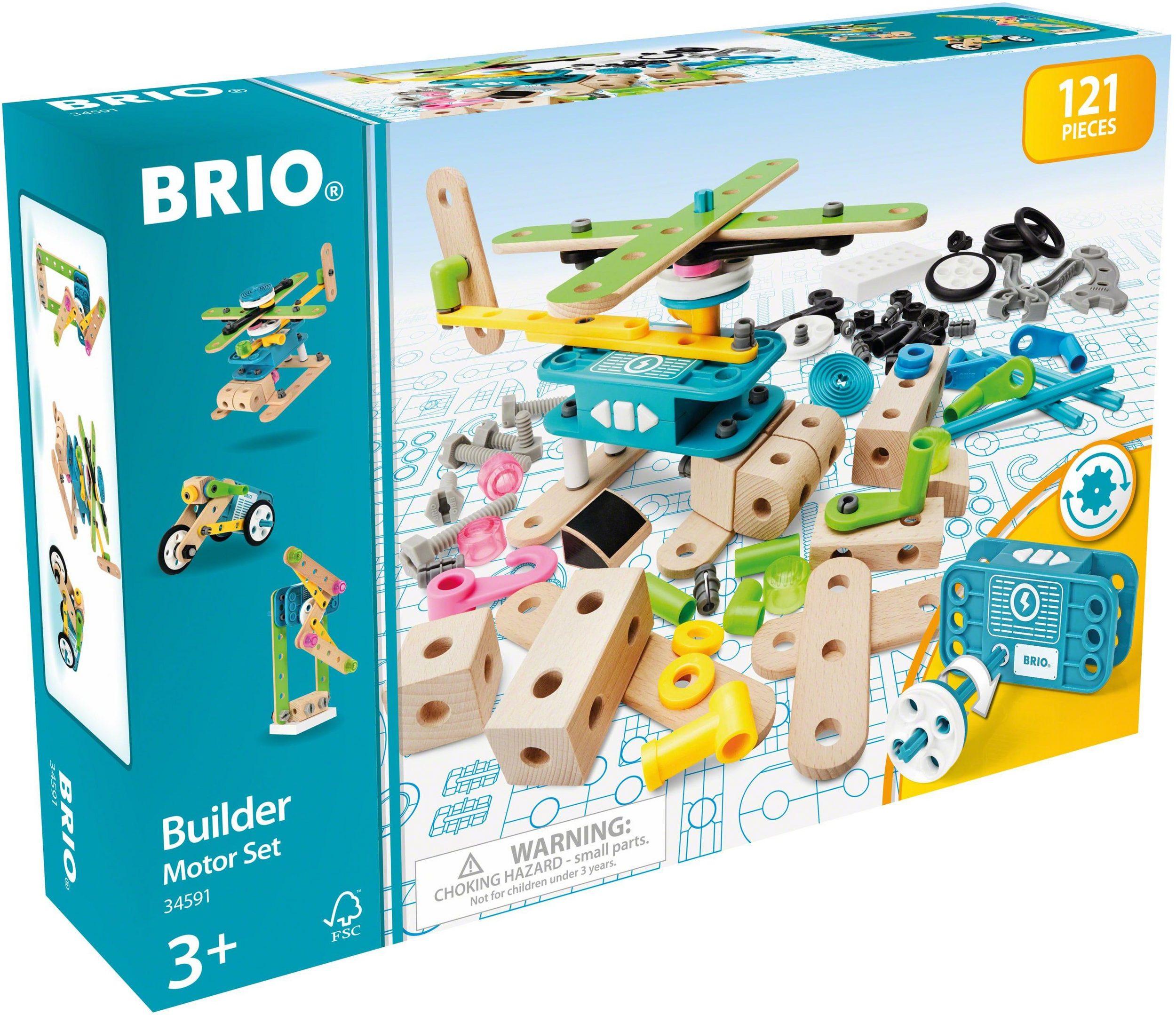 BRIO - Builder Motor- Konstruktionsset, 120 tlg. (34591)