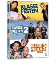 Klassefesten samlingen 1-3 (3-disc) - DVD
