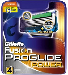Gillette - Fusion Proglide Power Blades 4-Pak