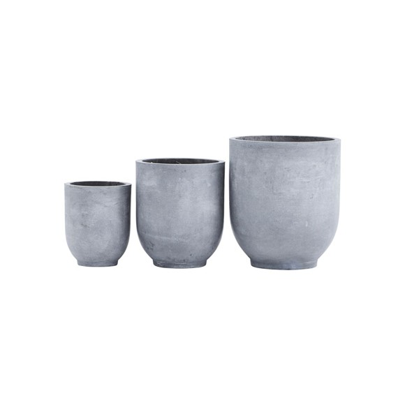 House Doctor - Gard Flowerpot Set of 3 - Grey (LY0101)