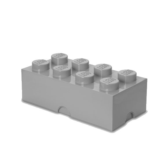Room Copenhagen - LEGO Storeage Brick 8 -  Stone Grey (40041740)