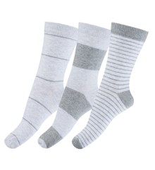 Melton - Numbers 3 Pack Socks - Stripes