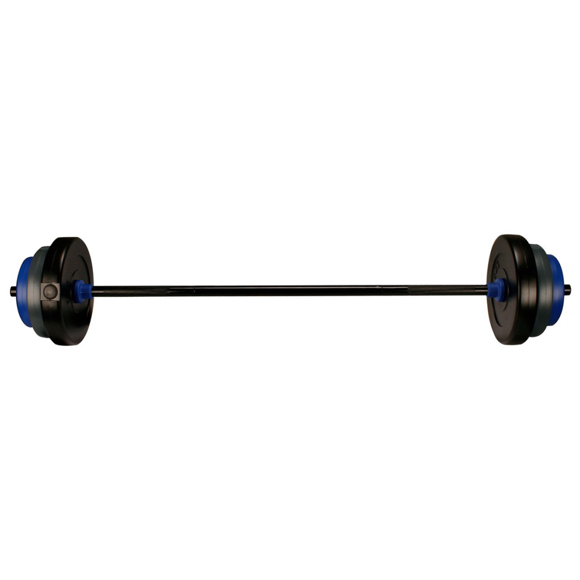 Avento Barbell Set 20 kg Black/Grey/Cobalt Blue 41HB