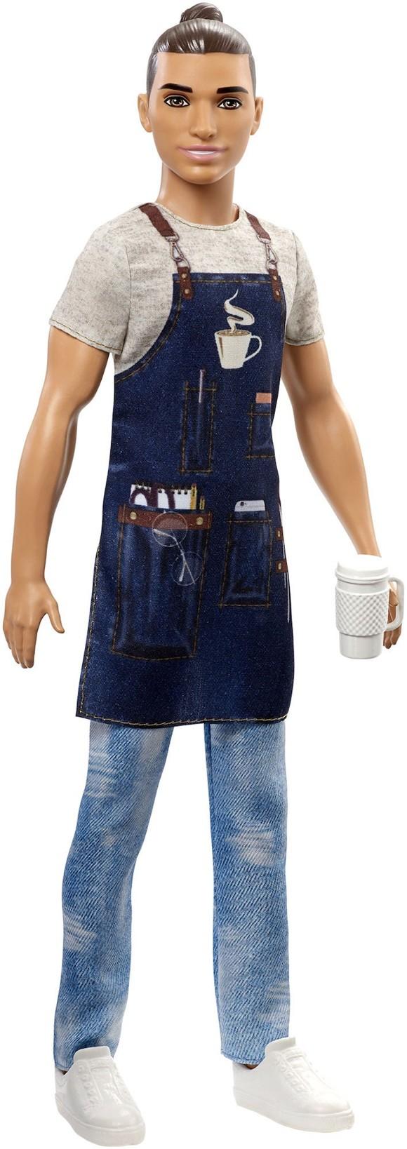 Barbie - Ken Karriere Dukke - Barista Ken