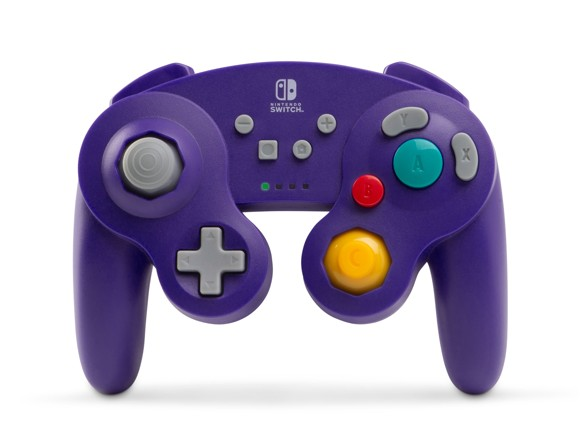 PowerA Wireless Controller Gamecube Style Purple