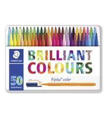 Staedtler - Triplus Color Tusser, 50 stk i Metalæske