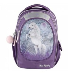 Miss Melody - School Bag w/Glitter - Purple (0410776)