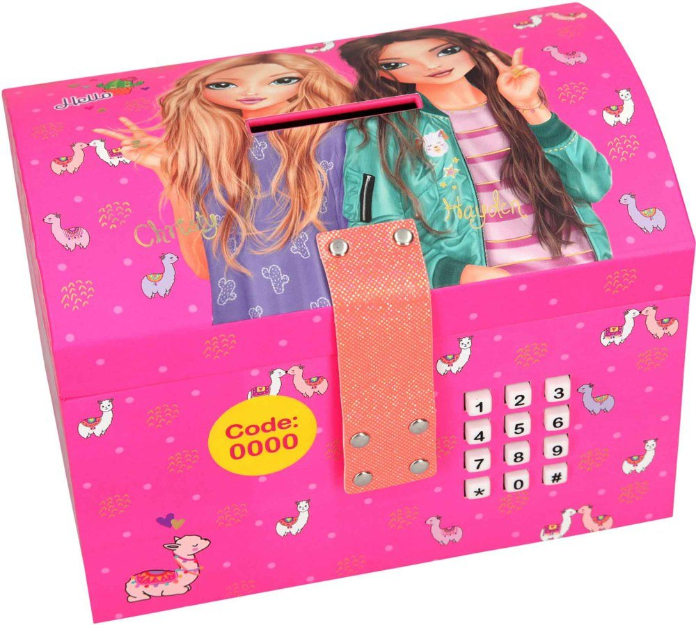 Top Model - Safety Box with Lock and Music Alpaca - Pink (0410291)