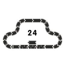 Waytoplay - Grand prix, bilbane i gummi, 24 dele