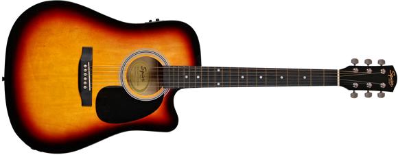 Squier By Fender - SA-105CE - Acoustic Electric Guitar (Sunburst)