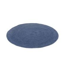 Smallstuff - Carpet Round dia. 120 cm -  Dusty Navy/ Denim