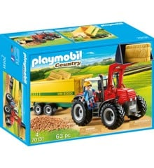 Playmobil - Tractor with Feed Trailer (70131)