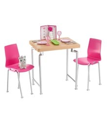 Barbie Indoor Accessory Dining Table Set Doll Children Toy Play