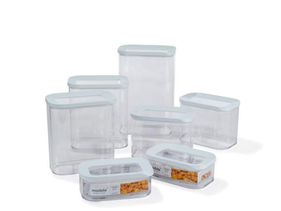 Rosti Mepal - Modula Store Box Set - 7 Pcs - White (234003)