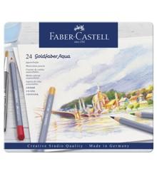 Faber Castell - Goldfaber akvarel farveblyamter i metalæske, 24 stk (114624)