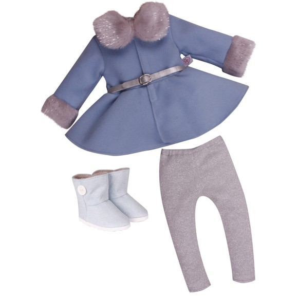 DesignaFriend - Dukketøj - Smuk vinterfrakke, 46 cm