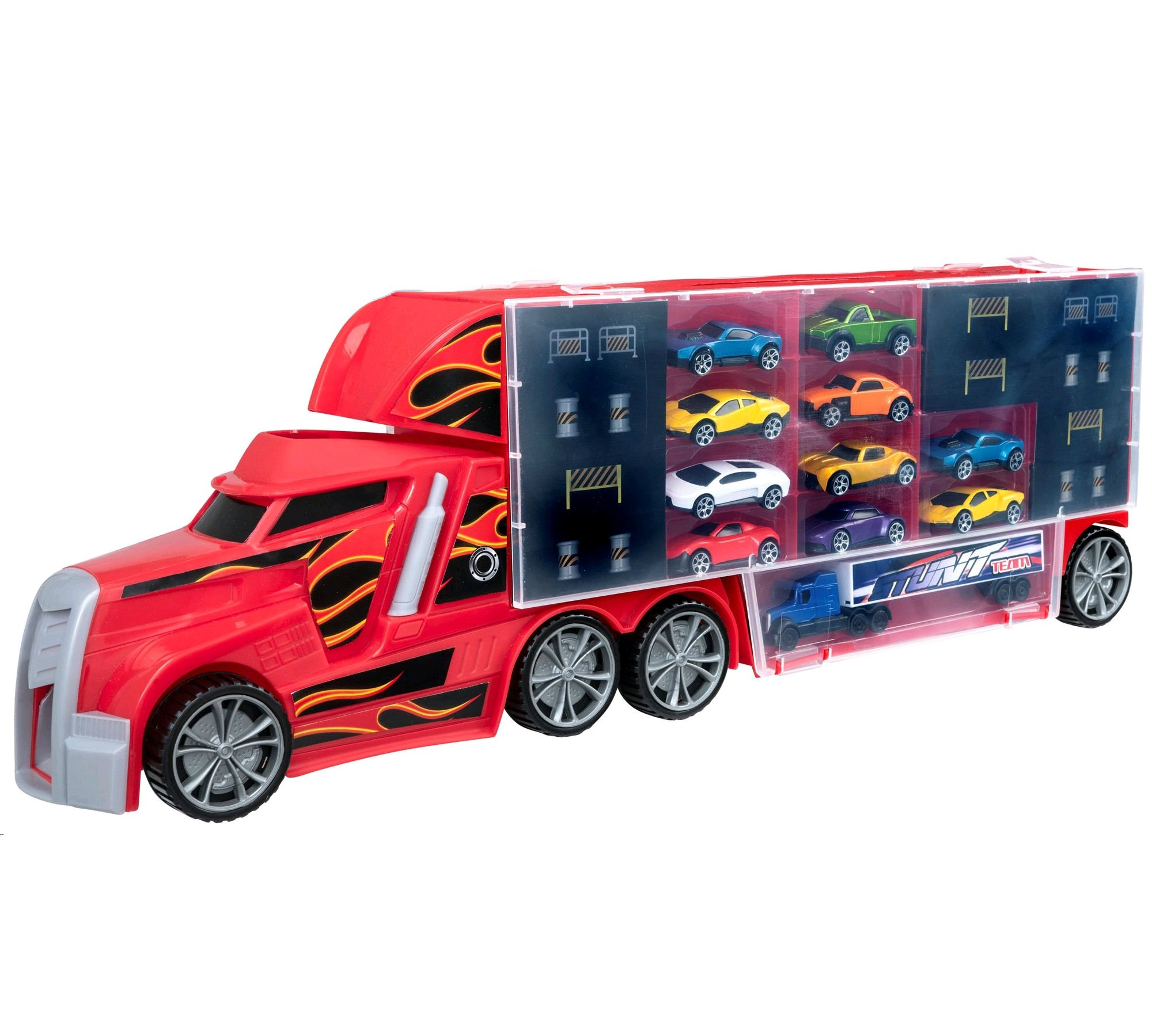Teamsterz - Stunt Transporter with 10 cars (1416873)