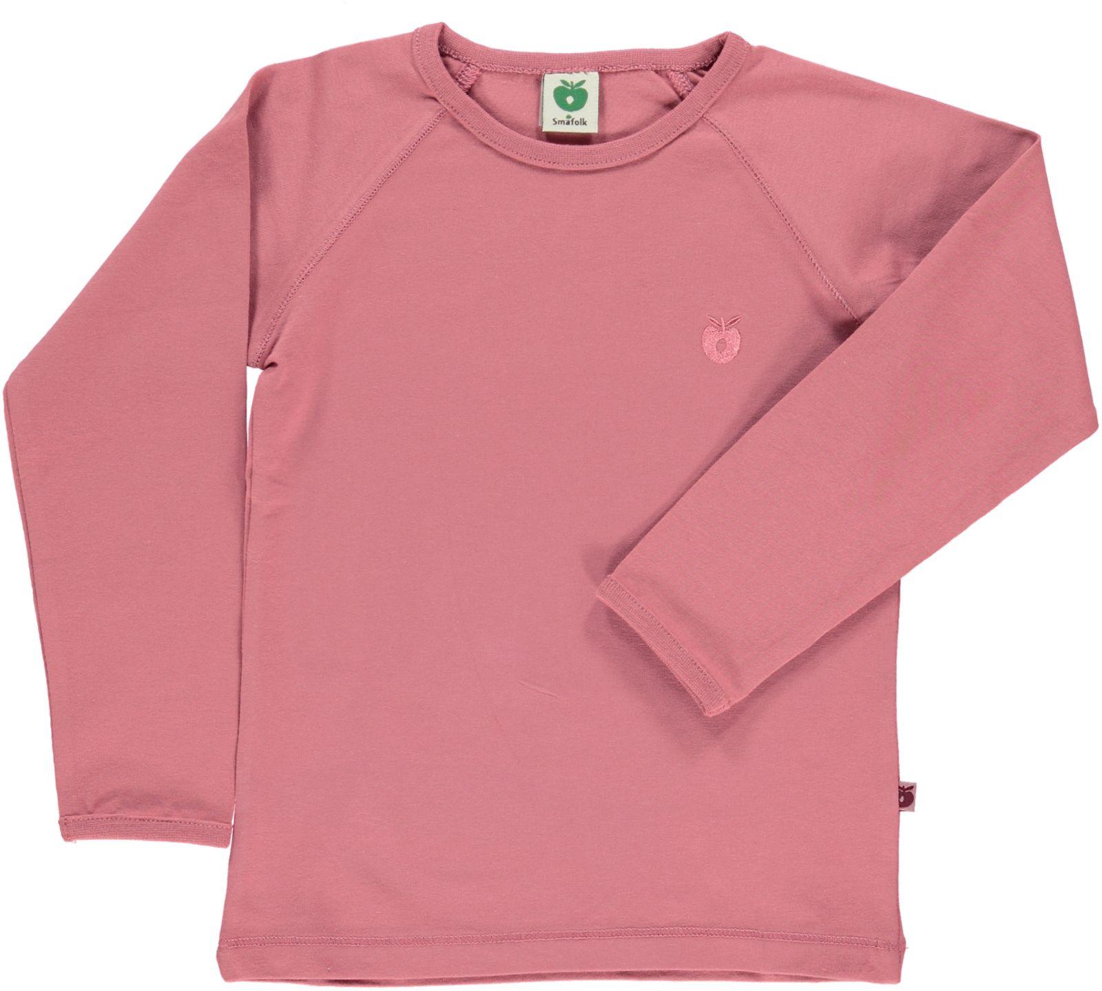 Småfolk - Organic Basic Longsleved T-Shirt - Mesa Rose
