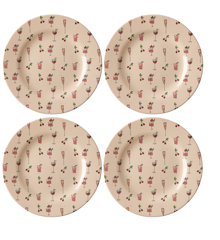 Rice - Melamin Side Plate w. Print 4 Pcs.