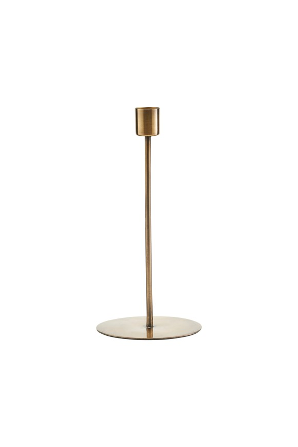 House Doctor - Anit Candle Holder - Brass Finish (SP0854)
