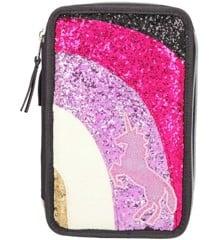 Ylvi & the Minimoomis - Pencil Case with Rainbow & Glitter - Antracit (0410644)
